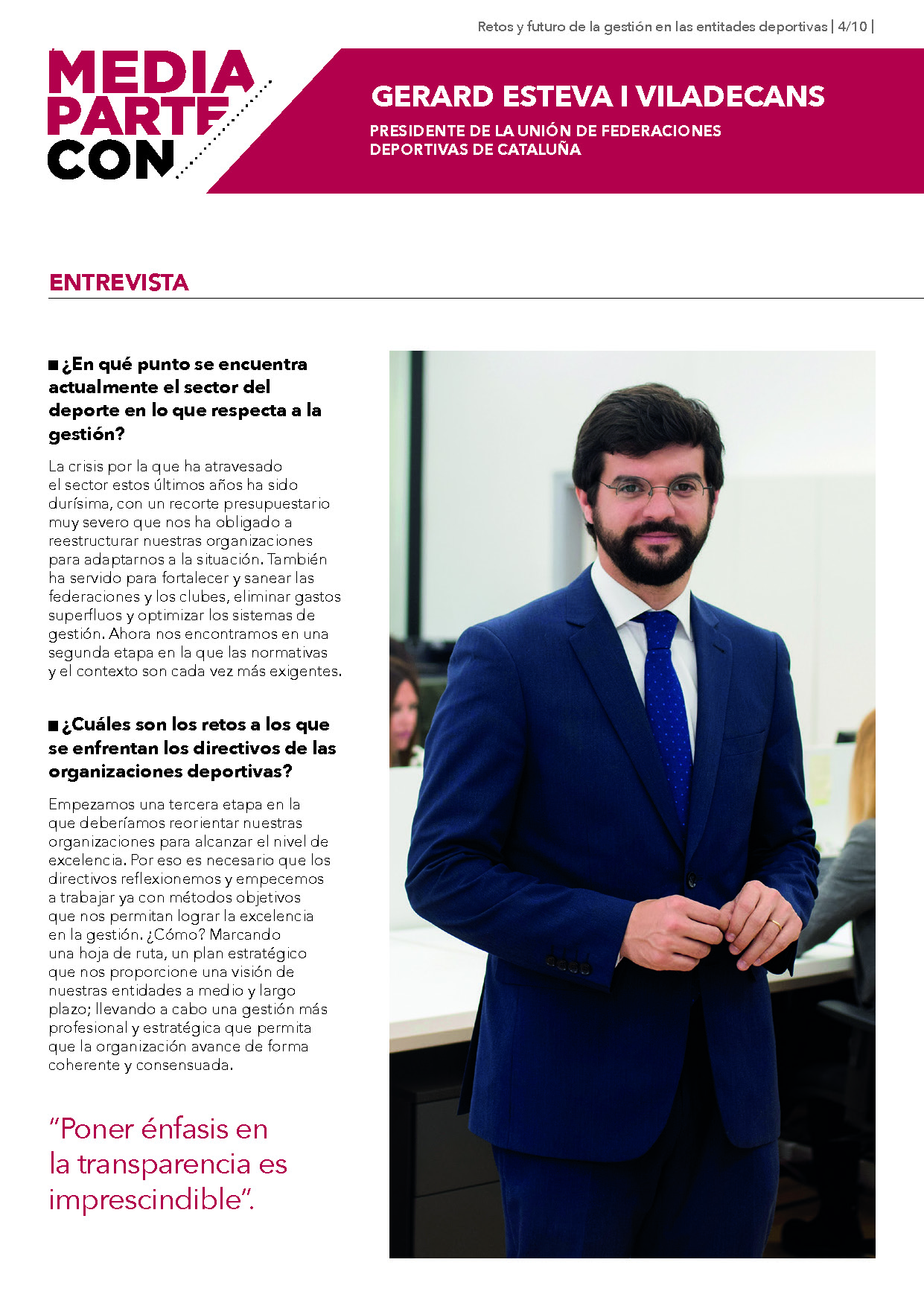 Entrevista Gerard Esteva