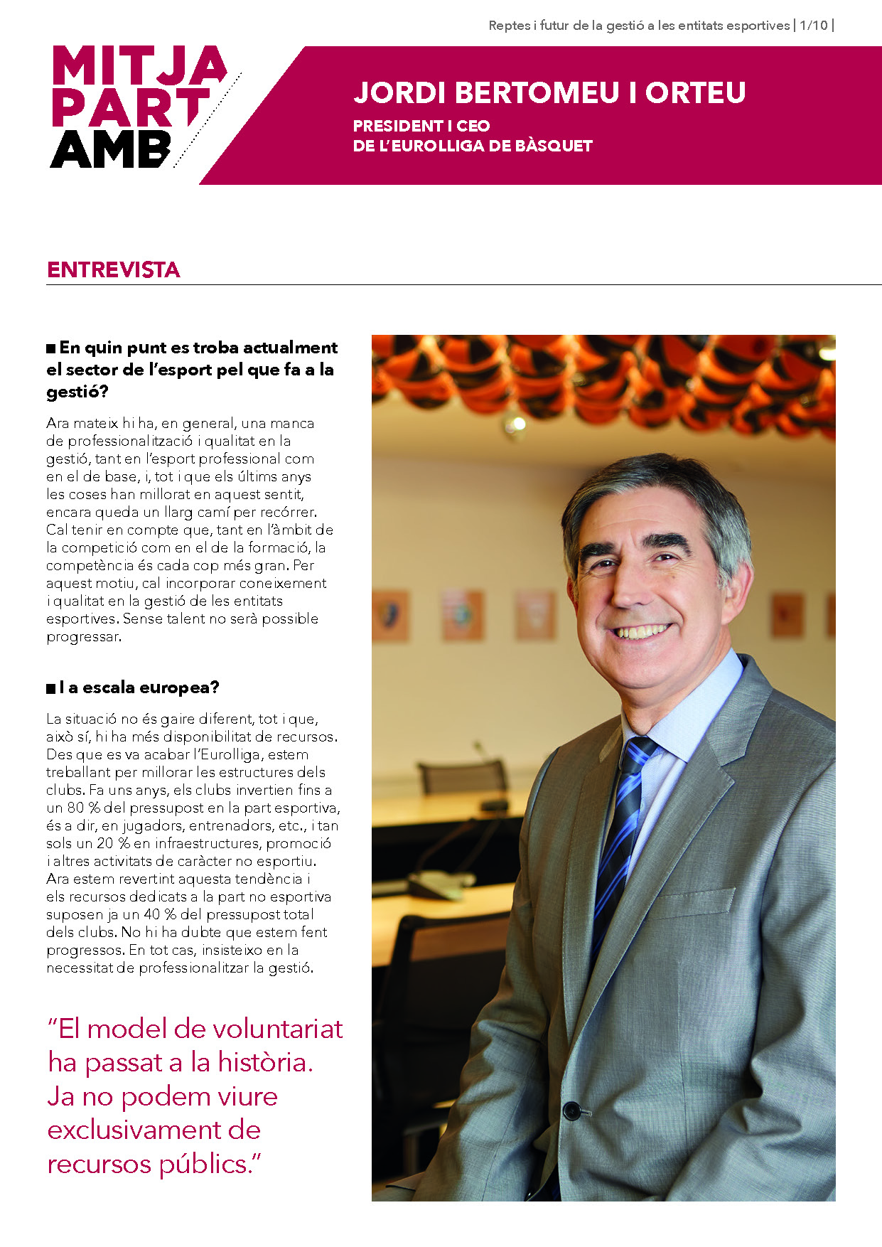 Entrevista a Jordi Bertomeu