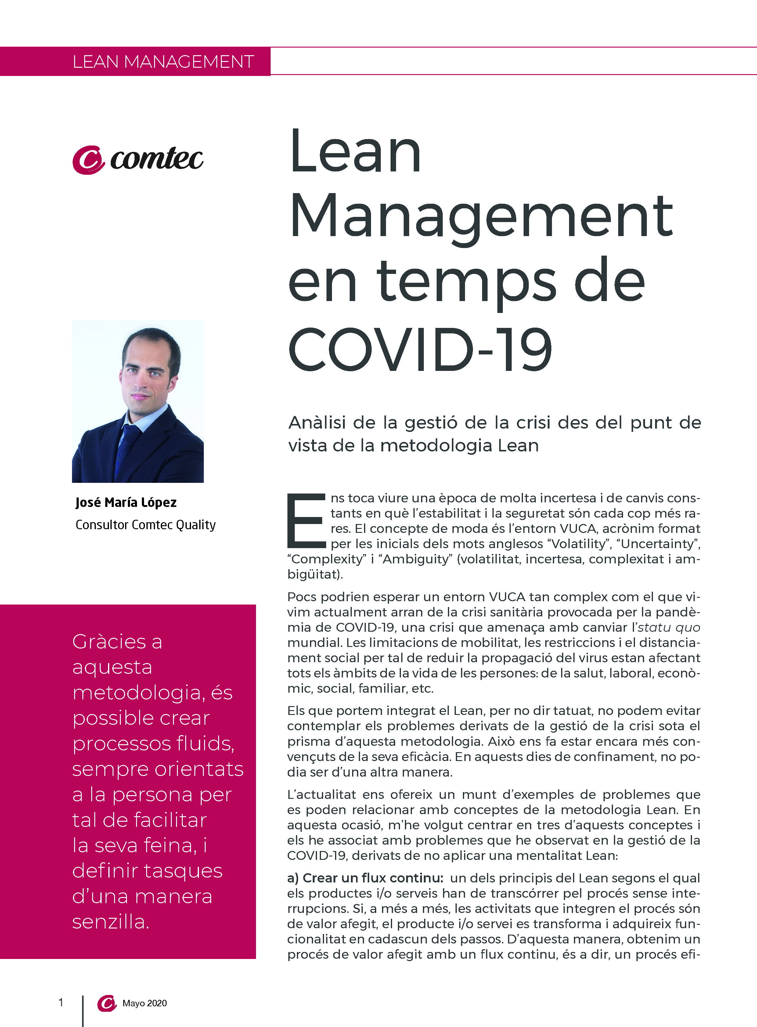 Lean en temps de COVID-19
